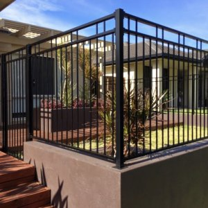 aluminium Double top rail two up two down