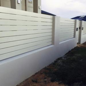 White Aluminium fence