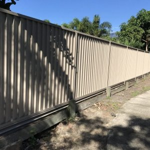 Colorbond privacy fence